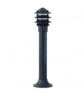 Pagoda Black 75cm Outdoor Bollard Light - Searchlight 1076-730