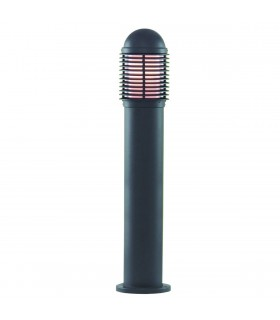 1 Light Outdoor Aluminium Bollard Light Black IP44