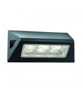 LED 3 Light Outdoor Wall Light Black IP44
