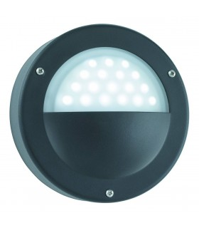 LED Outdoor Garden Wall Light Black IP44