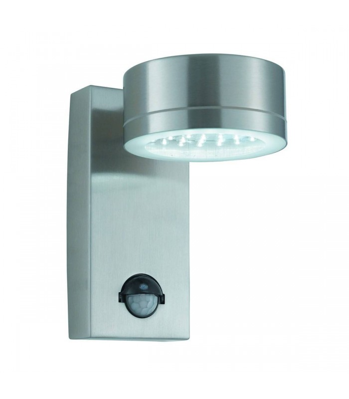 Stainless Steel 36 LED Outdoor Wall Light with Motion Sensor - Searchlight 9550SS