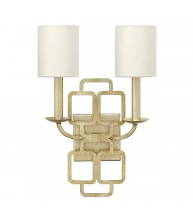 2 Light Indoor Candle Wall Light Silver, E14