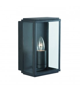 1 Light Outdoor Garden Wall Light Black IP44