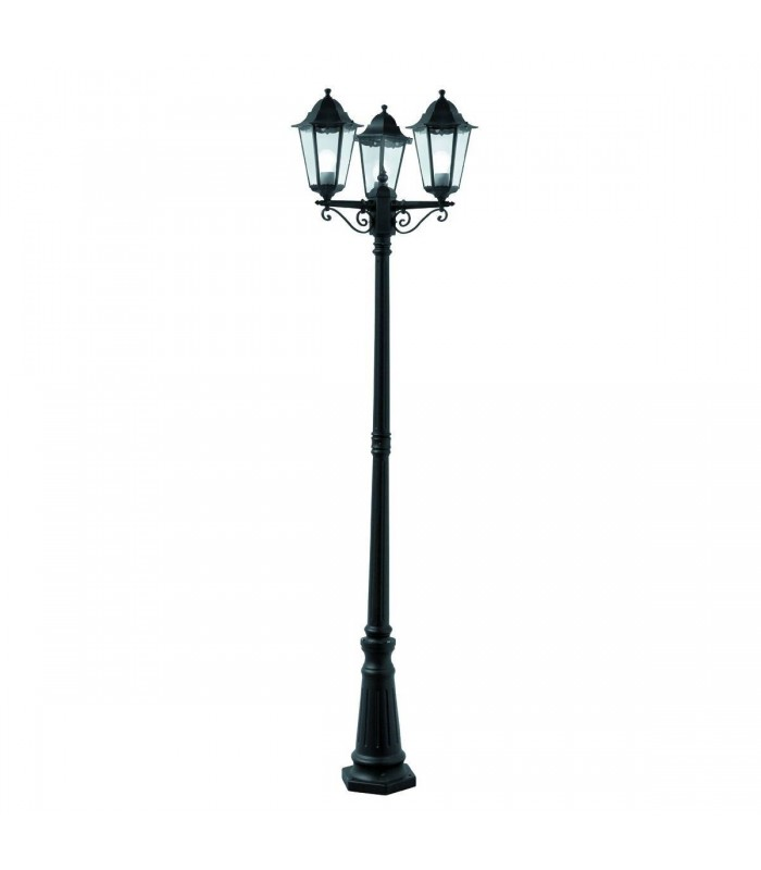 Alex Black 3 Light Outdoor Lamp Post - Searchlight 82540BK