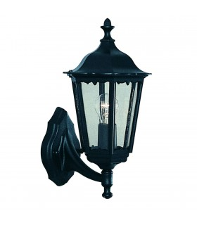 1 Light Outdoor Wall Light Black IP44