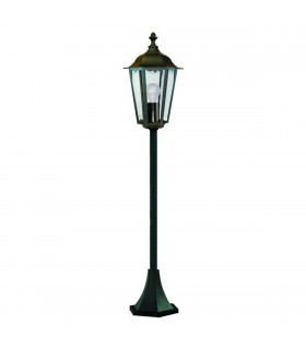 1 Light Outdoor Bollard Light Black IP44