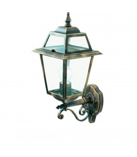 New Orleans Black & Gold Outdoor Wall Uplighter - Searchlight 1521