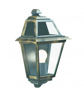 1 Light Outdoor Garden Wall Lantern Black, Gold IP44