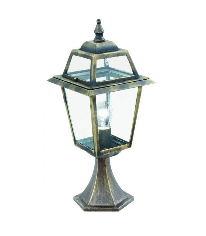 New Orleans Black & Gold Outdoor Pedestal Light - Searchlight 1524