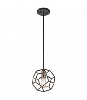 1 Light Mini Spherical Ceiling Pendant Light Steel