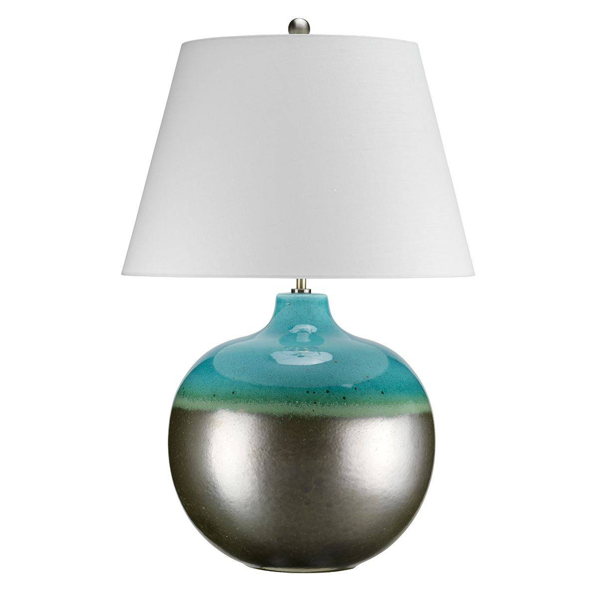 Image of: 1 Light Table Lamp Graphite Turquoise