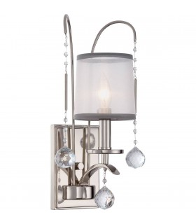 1 Light Wall Light - Imperial Silver Finish