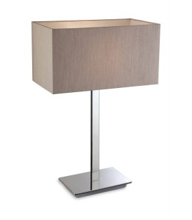 1 Light Table Lamp Polished S/Steel, Oyster, E27