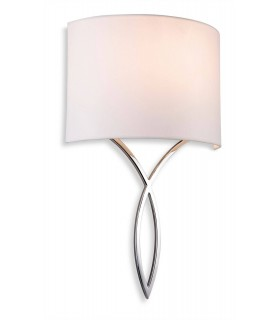 1 Light Indoor Wall Light Chrome, Cream Shade