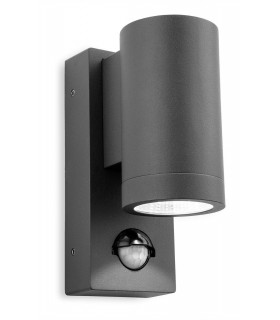 LED 1 Light Single Outdoor Wall, PIR Graphite IP65