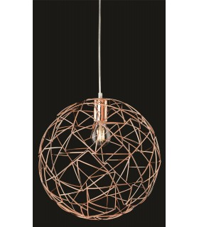 1 Light Spherical Wire Ceiling Pendant Copper, E27