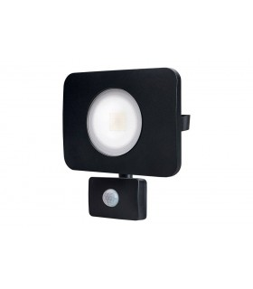 LED Floodlight 50W 4000K 4500lm PIR Sensor Matt Black IP64