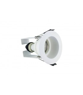 LED Fire Rated Downlight Recessed White Insulation Guard / GU10 Holder White IP65