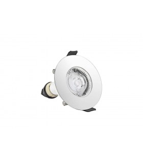 LED Round Fire Rated Downlight Round Polished Chrome GU10 Holder Polished Chrome IP65