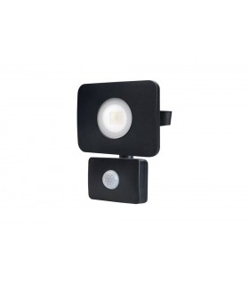 LED Floodlight 20W 4000K 1800lm PIR Sensor / Override Matt Black IP64