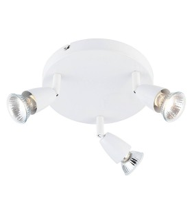 3 Light Adjustable Spotlight Gloss White, GU10