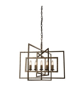 5 Light Ceiling Pendant Bronze