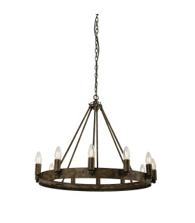 12 Light Ceiling Pendant Aged Metal
