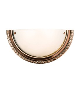 1 Light Indoor Wall Light Antique Copper with Acid Glass