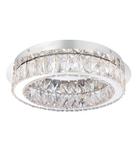 1 Light Flush Ceiling Light Chrome