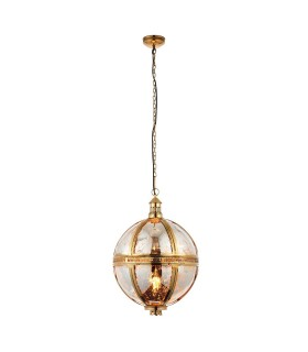 Ceiling Pendant Light Solid Brass, Mercury Glass