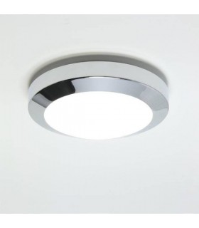 1 Light Bathroom Flush Ceiling Light Polished Chrome IP44, E14