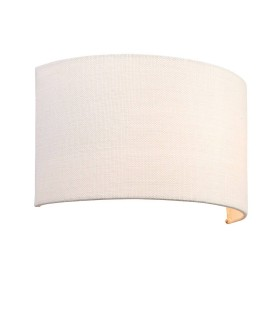 1 Light Up & Down Wall Light Vintage White Linen, Polyester Cotton, E27