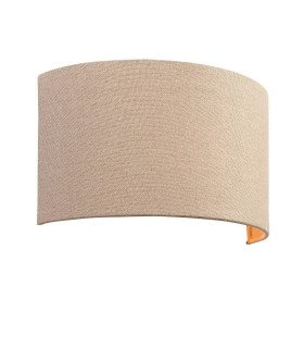 1 Light Up & Down Wall Light Natural Linen Fabric, Cotton, E27