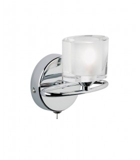 1 Light Wall Light Chrome with Crystal