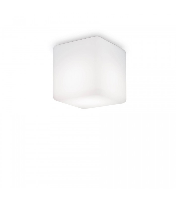 1 Light Square Surface Mounted Downlight White IP44