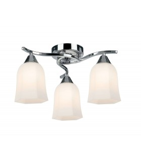 Alonso Indoor Semi Flush Ceiling Light - Endon 96963-CH