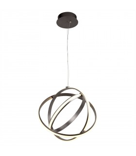 Integrated LED 1 Spherical Ceiling Pendant Brushed Satin Nickel, White