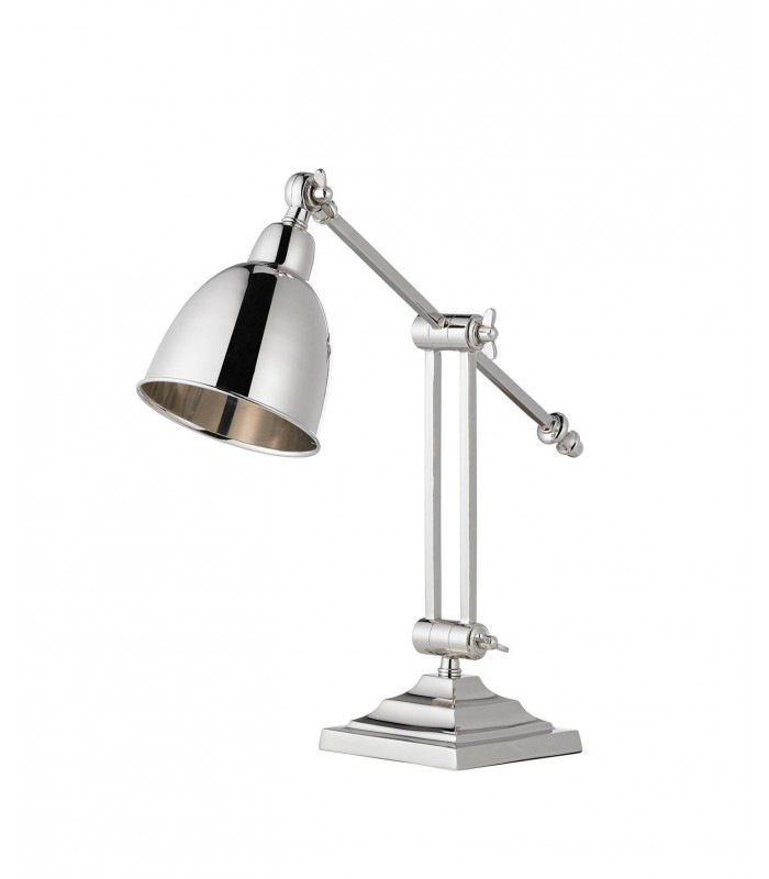 Table Lamp Polished Nickel Plate