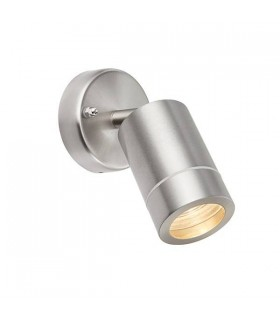 Outdoor Spotlight Brushed Stainless Steel, Glass IP44, GU10