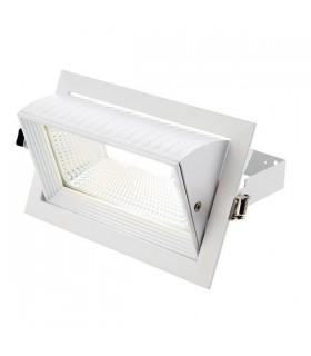 Integrated LED Recessed Light Matt White, Glass