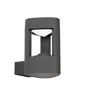 1 Light Outdoor Wall Light Frosted Acrylic, Dark Grey Paint IP54
