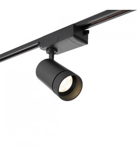 1 Light Track Integrated LED Light Matt Black, Prismatic