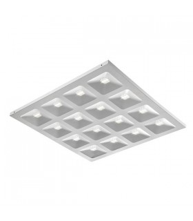 Integrated LED 1 Light Recessed Light Matt White, Clear