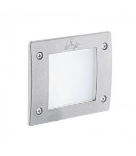 LED 1 Light Square Outdoor Recessed Light White IP66