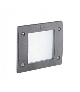 LED 1 Light Square Outdoor Recessed Light Grey IP66