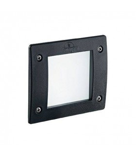 LED 1 Light Square Outdoor Recessed Light Black IP66