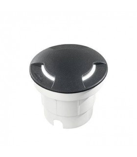 LED 1 Light Large Outdoor Recessed Light Black IP67