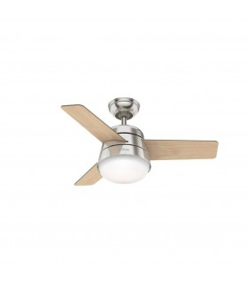 2 Light Indoor Ceiling Fan Brushed Nickel - 91 cm Diameter