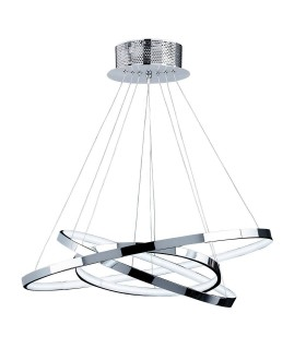 Ceiling Pendant Light Chrome, Frosted Acrylic