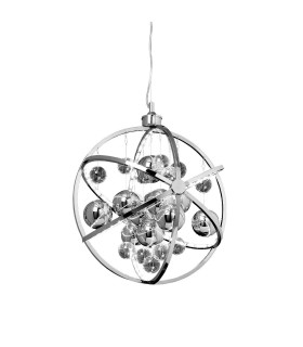Spherical Ceiling Pendant Light Chrome Glass Balls
